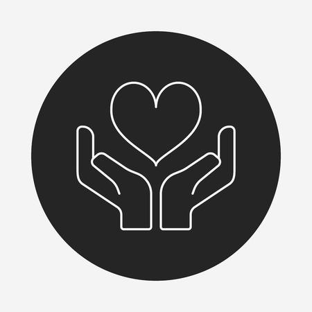 Donation icône de la ligne