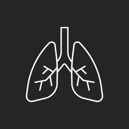organ lung line icon
