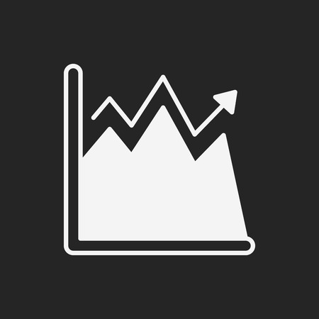 line graph: Information chart icon