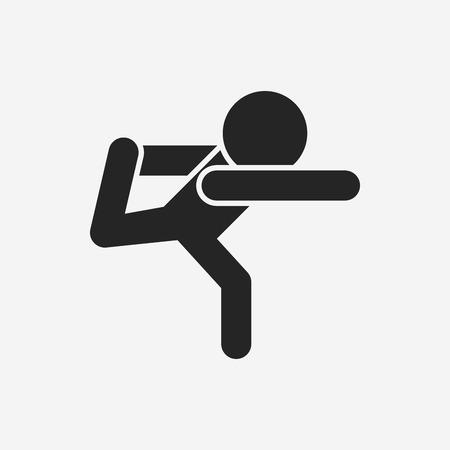 health icon: yoga icon
