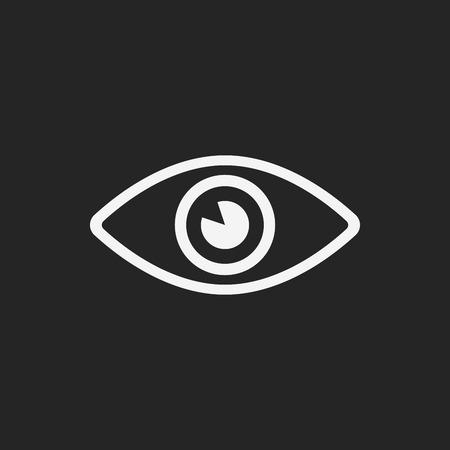 isolated on white: eye icon