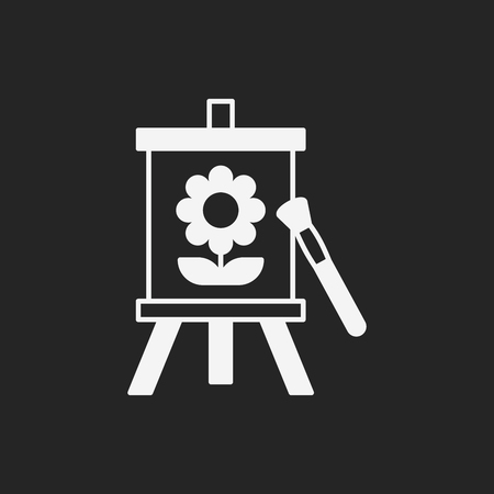 artwork painting: painting artwork icon Illustration