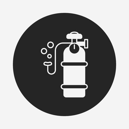 gas cylinder: Oxygen cylinder icon