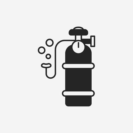 compressed gas: Oxygen cylinder icon