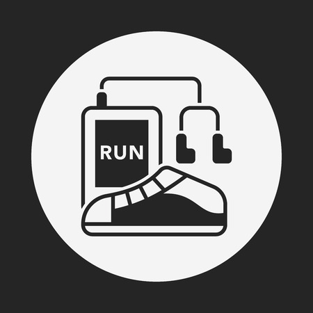 running shoes: running shoes icon