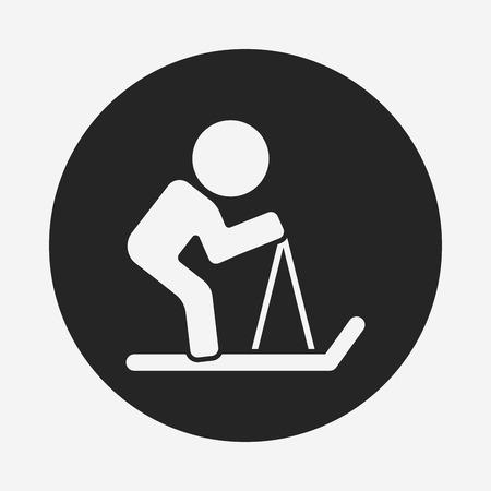 slalom: skiing icon