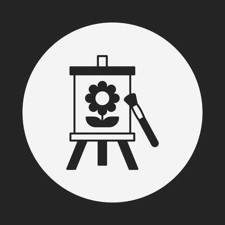 framed picture: painting artwork icon Illustration