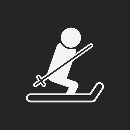 skiing: skiing icon