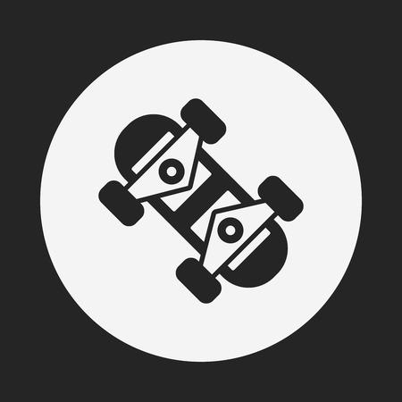 skateboard park: icono de tabla de skate