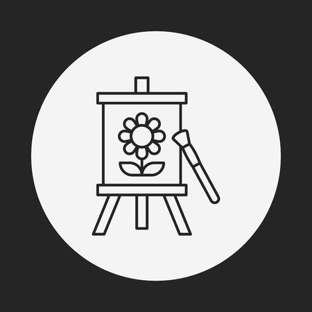 artwork: painting artwork line icon Illustration