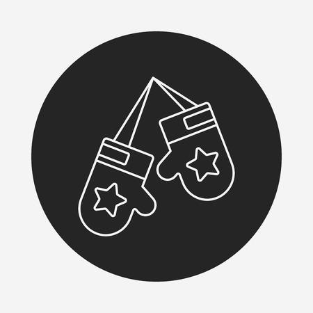 latex glove: glove line icon