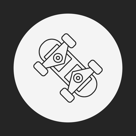 board: skate board line icon