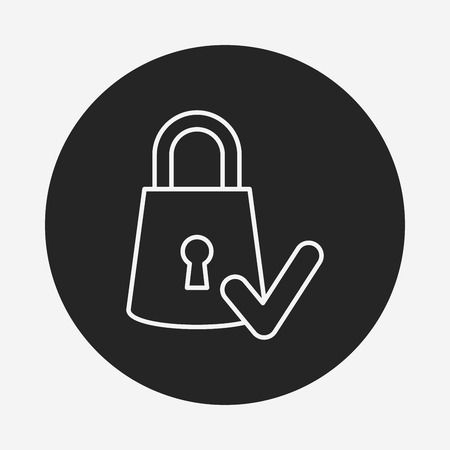 security icon: security line icon