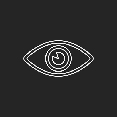 isolated on a white background: eye line icon