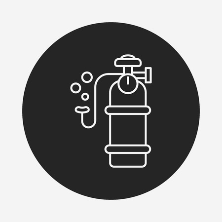 cylinder: Oxygen cylinder line icon