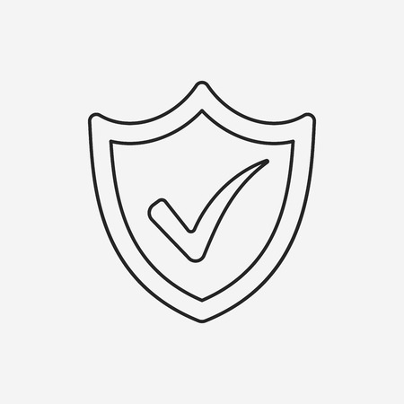 protection line: Internet Protection line icon Illustration