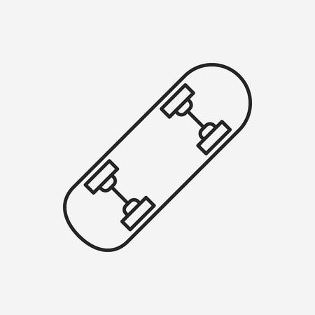 skate board: skate board line icon