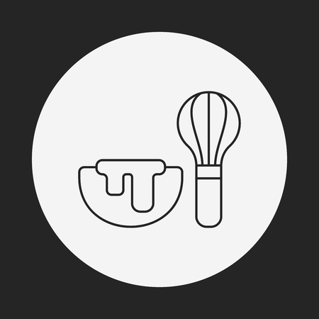 beater: kitchenware beater line icon