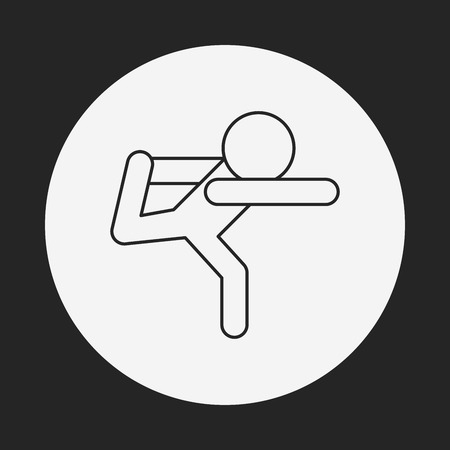 meditation man: yoga line icon