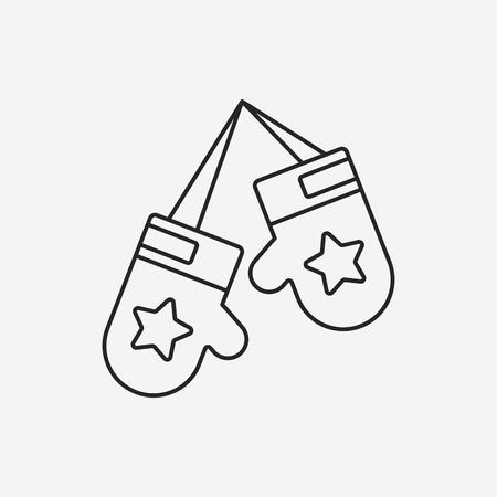 glove: glove line icon