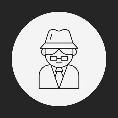 spyware: detective line icon