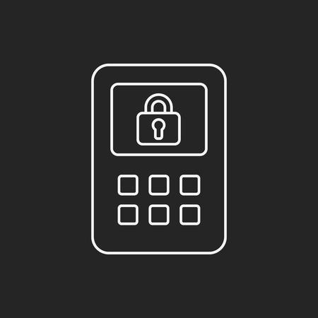safety deposit box: Safety Deposit Box line icon Illustration