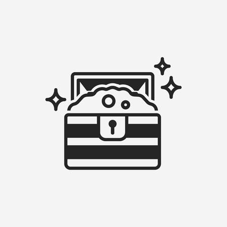 Treasure icon Illustration