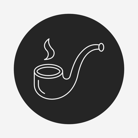 tobacco pipe: Tobacco pipe line icon Illustration