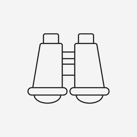 observations: telescope line icon
