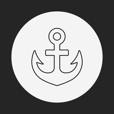 retention: Anchor line icon