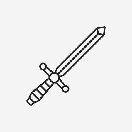 Sword line icon
