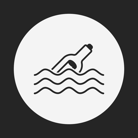 castaway: Message in a Bottle line icon