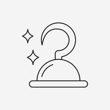 the hook: pirate hook line icon Illustration