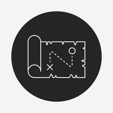 treasure map line icon