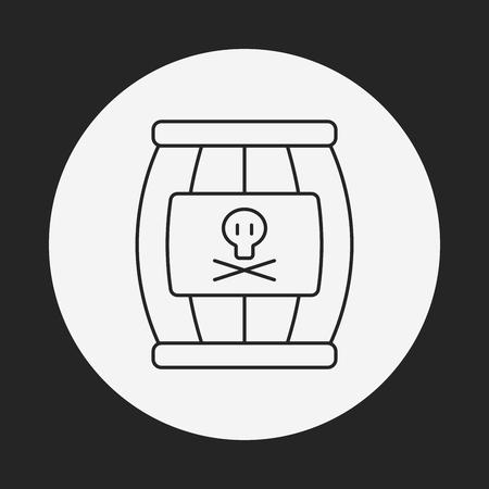 cannonball: Cannon bomb line icon