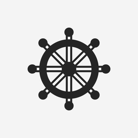 Steuerruder: Rudder icon Illustration