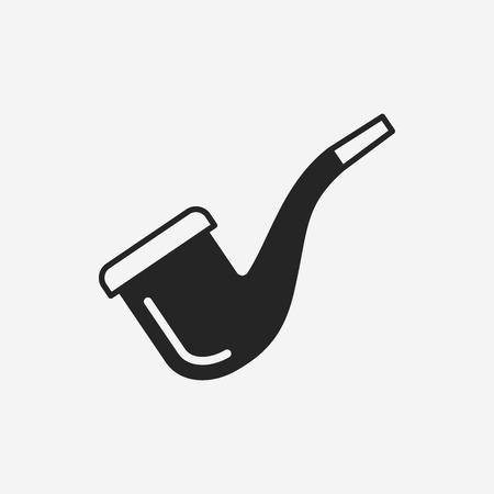 tobacco: Tobacco pipe icon Illustration