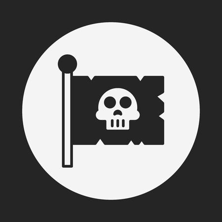 cross bone: pirate flag icon