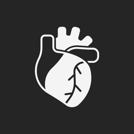 human vein  heartbeat: organ heart icon Illustration
