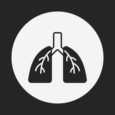 organ lung icon