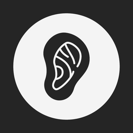 hearing: ear icon
