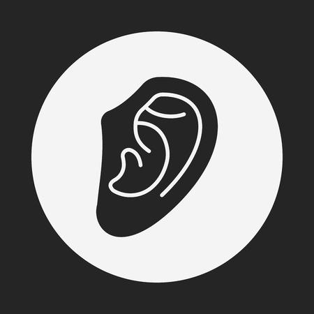 hearing aid: ear icon