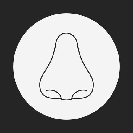 face surgery: nose line icon