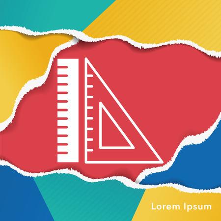 ruler: Triangle ruler icon