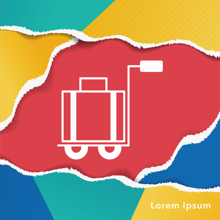 trolley case: suitcase trolley icon