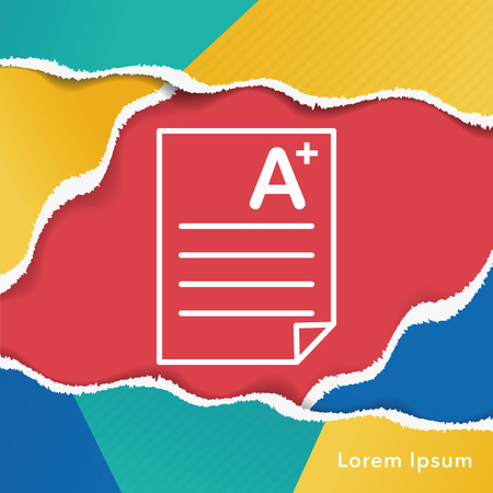 examination: Examination paper icon Illustration