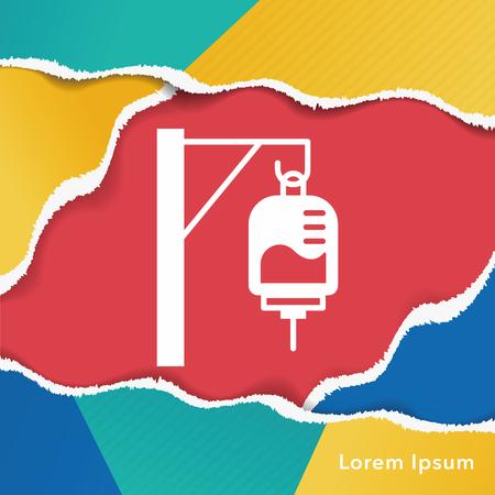 intravenous drip: medical drip icon