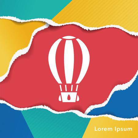 air: hot air balloon icon
