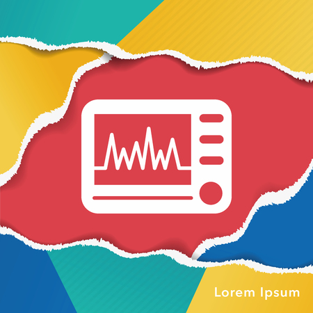 diagnosis: ECG icon Illustration