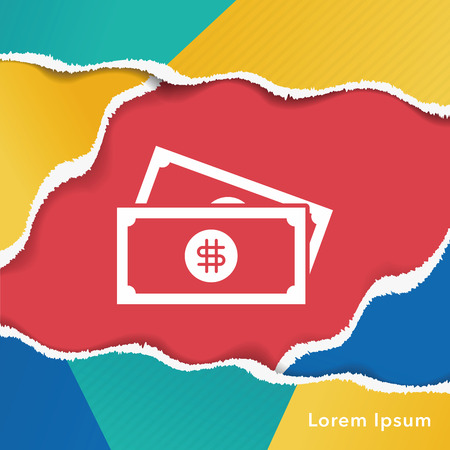 cash icon: cash icon Illustration